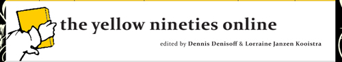 New peer-reviewed resource: The Yellow Nineties Online