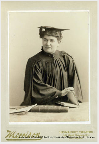 Image of the Week: Willa Cather in a graduation cap and gown